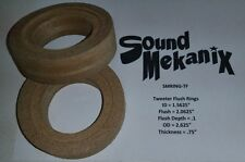 "MDF FLUSH Speaker Rings,Tweeter Flush Mount 3/4"" Thick one pair Made In USA"