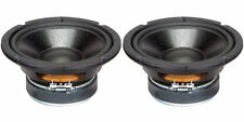"""NEW  (2) 6.5"""" Woofer Speakers.Replacement.8 ohm.Home Audio Driver.6-1/2"""" Pair."""