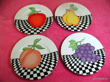 "{SET OF 4} Fitz & Floyd (Fruits Du Jour) 7 5/8"" SALAD PLATES Exc"