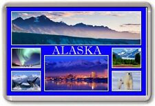 FRIDGE MAGNET - ALASKA - Large - USA America TOURIST
