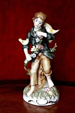 Antique French 'Martial Raynaud' Porcelain Boy Figurine