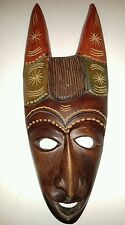 Hand Carved Wooden Mask Wall Hanging Tribal  Art, UNIQUE, unknown origin
