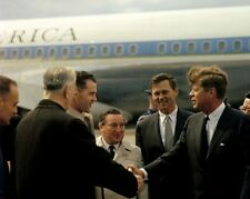 President John F. Kennedy arrives in Boston on Air Force One New 8x10 Photo
