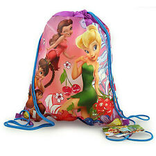 6pc DISNEY Fairies Tinkerbell Kids Sling Bag Tote Backpack BIRTHDAY PARTY FAVORS
