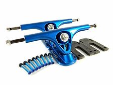 "Paris 180mm V2 Longboard Trucks Blue + Paris 1/4"" Riser Pad + 1.5"" Hardware"