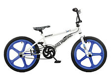 Rooster Big Daddy 20 BMX White/Blue with Skyway Mag Wheels RRP £239.99