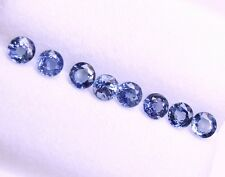 Natural Mined Loose Gem  Round Blue Sapphires Lot/8 Pcs, 1.70 Cts Tol,  3.4 MM