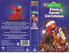 SESAME STREET ~ELMO SAVES CHRISTMAS  ABC~ VIDEO PAL VHS