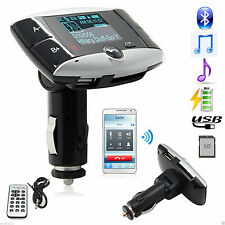 "1.5"" Bluetooth Auto Kit LCD MP3 CD Player FM Transmitter Modulator SD USB Remote"