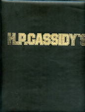 """Older Wine Menu - 3 Ring Notebook - H.P. Cassidy's - 11"""" x 10"""" - Nice Condition"""