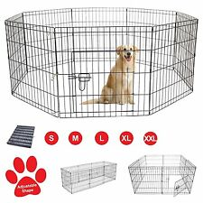 Pet Dog Pen Puppy Cat Rabbit Foldable Playpen Indoor/Outdoor Enclosure Run Cage