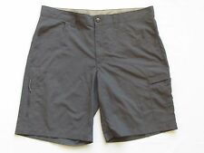 Columbia shorts 40 x 11 ins hiking Omni Wick Shade UPF50 Gray XM4699 flat nylon