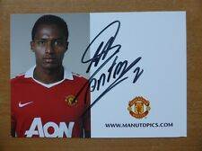 2010-11 Antonio Valencia Signed Man Utd Club Card (4744)