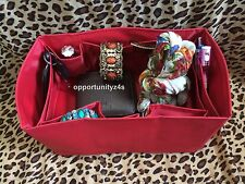 BAG ORGANIZER WITH BASE SHAPER INSERT LINER RED FOR MM,30 SIZE6.5x11.0x5.5 inch