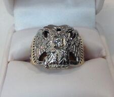 Vtg. 32 Degree Masonic Mens 14K Mens Diamond Ring (J277)
