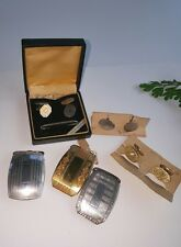 Vintage Victorian Sterling Silver and Gold Filled Belt Buckles and Cufflinks NOS