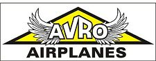 A181 AVRO Airplane banner plane hangar garage decor Aircraft signs