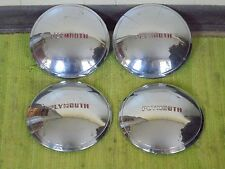 "49 50 Plymouth Dog Dish Hub Caps 10"" Set of 4 Poverty 1949 1950 Hubcaps"