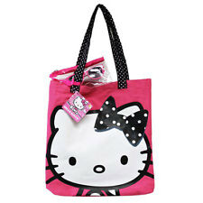 Hello Kitty 3-Piece Polka Dots Pink Tote Bag Handbag w/ Kids Sunglasses + Pouch