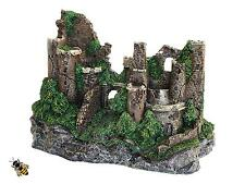 Large Castle Wall Ruins Rustic Aquarium Ornament Fish Tank Decoration New