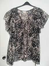 BN Ladies Leopard Print Sheer Top by Yours Size 20