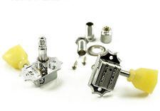 TonePros 3 by 3 Nickel Kluson Tuners Screw In Bushing Locking Post TPKB3L-N