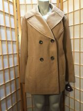 AVA & VIV Tan Double Breasted Wool Winter PeaCoat Jacket Coat  Womens Size X