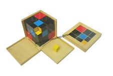 MONTESSORI MATH MATERIALS - TRINOMIAL CUBE (BEECH WOOD) - NEW