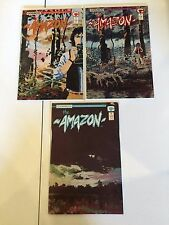 THE AMAZON #1 2 3 COMPLETE SET  COLLECTOR'S SERIES HIGH GRADE