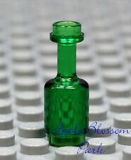 NEW Lego Minifig Trans Green WINE/RUM BOTTLE Pirate Kingdom Castle City Food Jug