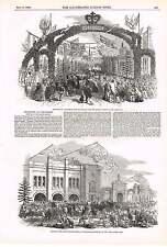 1850 Festeggiamenti a Chippenham formaggio mercato LION formaggio Press cagliata Breaker