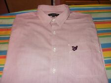 LYLE & SCOTT SHIRT, SMALL, L/S VGC, FINE RED STRIPES NOT WORN MUCH AT ALL.