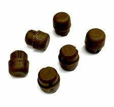 6 Piano Cabinet Rubber Buttons/Bumpers, Brown, 14mm diameter, 10mm tall
