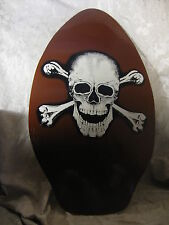 Wood Skull Crossbones Jolly Rodger Skim board Wake Board Boogie Board