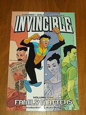 INVINCIBLE FAMILY MATTERS VOL 1 IMAGE COMICS KIRKMAN WALKER   9781582407111