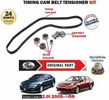 FOR SUBARU LEGACY 2.0 R RE EJ204 ENGINES 2005- NEW TIMING CAM BELT TENSIONER KIT