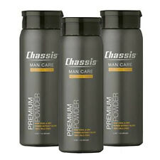 Chassis Premium Body Powder for Men Mens Care Clean Fresh Scent 4oz Cooling 3 Pk