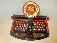 Vintage Junior Dial Typewriter Tin Toy by Louis Marx & Co with Original Box