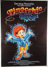 Pinocchio und der Herrscher der Nacht USA 1987 - Filmplakat DIN A1 (gerollt)
