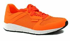 NIB GUCCI Men's 369088 Lace Up Running Sneakers, Neon Orange Size 10.5G 11.5US