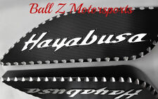 99-06-07 Hayabusa Black/Silver 3D Engraved Side Gas Tank Pads w/Ball Cut Edges!!