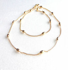 Women Lady Party Choker Chain Necklace18K Yellow Gold Plated Olive Bead 45cm New