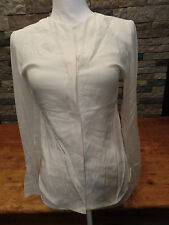 Narciso Rodriguez Blouse Sheer Sleeve Top 100% Silk Size 40 NWT $1095