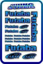 FUTABA SERVO RADIO RX TX 2.4G FLIGHT REMOTE CONTROL STICKERS FASST BLUE BLEND B
