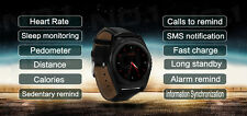 1.2 inch Round Touch Screen Black Metal Body Strap Smart Watch Phone Micro Sim