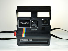 Vintage Rainbow Stripe Polaroid OneStep 600 Land Camera in Original Box & Papers