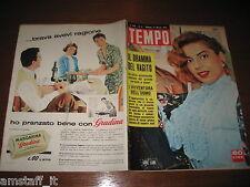RIVISTA TEMPO 1957/11=ABBE LANE=ADENAUER=LUIGI BROGGINI=CLARETTA PETACCI=