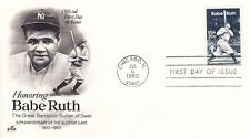 Babe Ruth FDC First Day Cover Cachet 1983 50th Anniversary of All Star Game