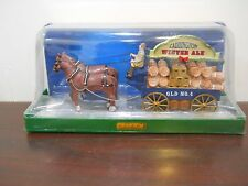 "Lemax Christmas Village Horse And Carriage & Barrels ""CADDINGTON WINTER ALE """