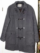 Mantaray Mens Original Dark Grey Duffle Coat with hood Size XL